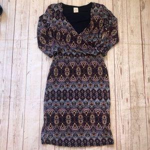 Kaileigh Siggerson knit Navy Floral Dress